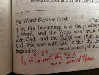 John ch 1 vs 1 Word