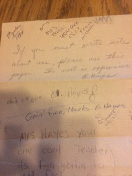 paper towel notes 2